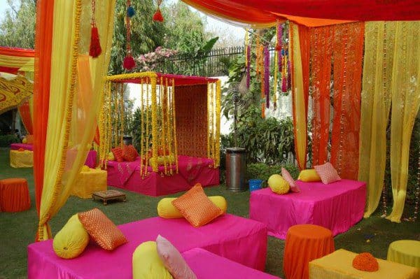 Mehndi Day Decoration : Eye refreshing mehndi decoration ideas sheideas