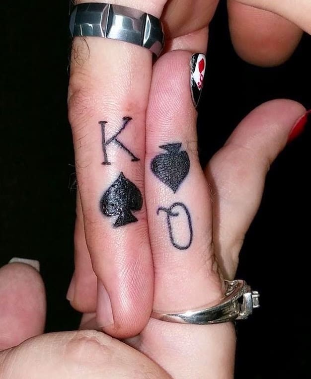 great-king-and-queen-ring-tattoos-for-wedding