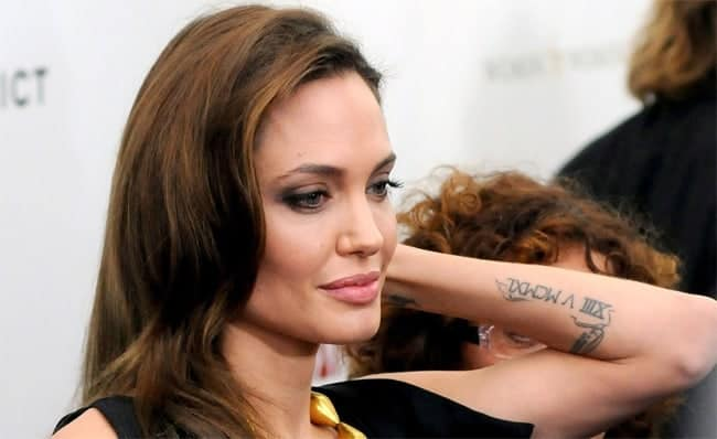hollywood-actress-angelina-jolie-forearm-tattoos