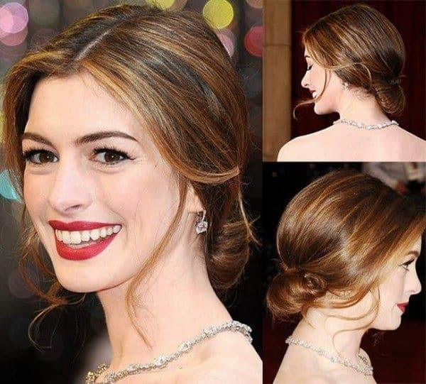Anne Hathaway Engaged Celebrity Save The Dateanne: 30 Elegant Red Carpet Hairstyles Ideas 2019