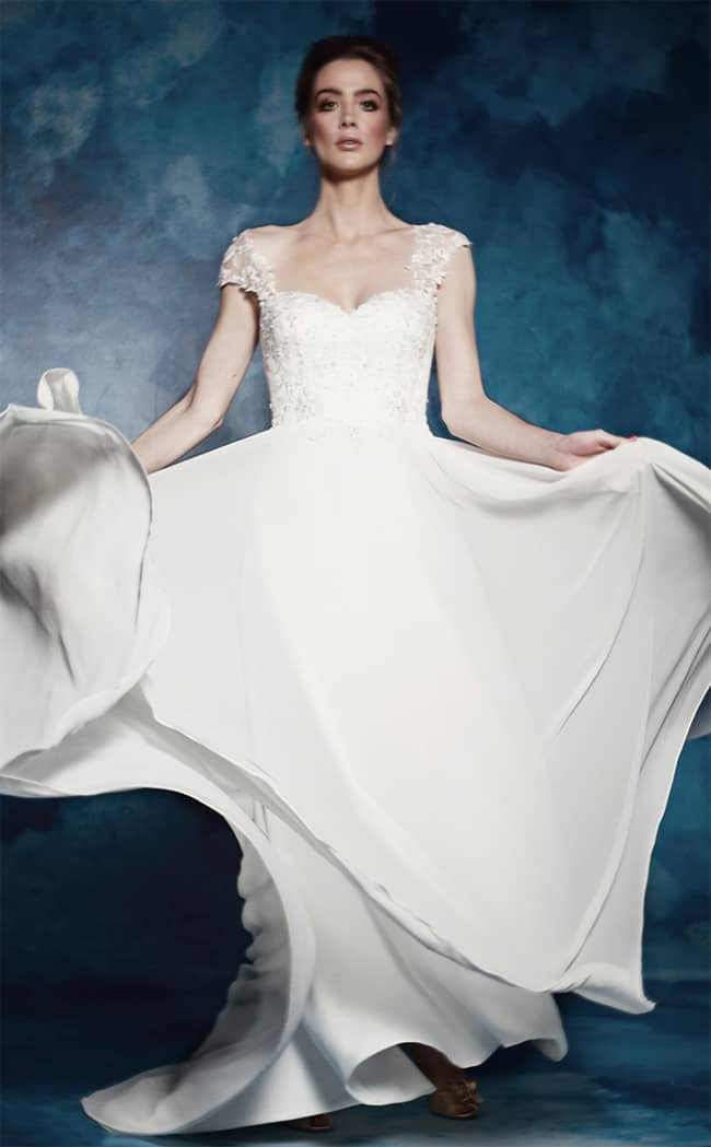 illusion-cap-sleeves-sweetheart-a-line-wedding-dress-trend