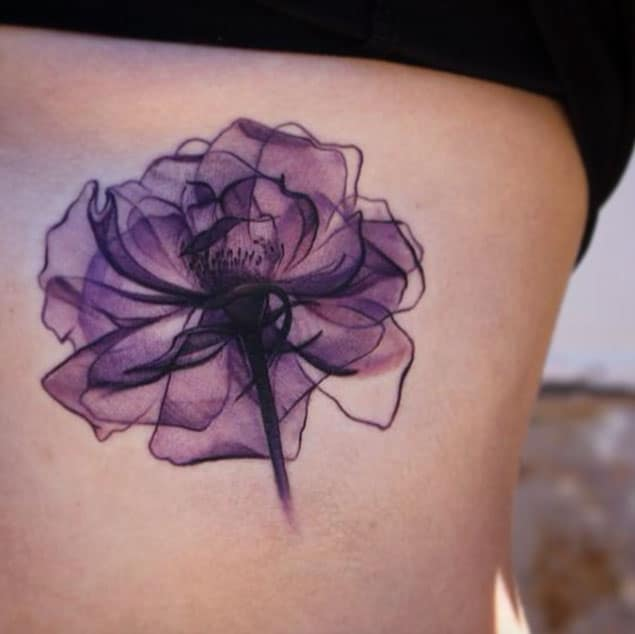 new-purple-x-ray-flower-tattoos-ideas-for-party
