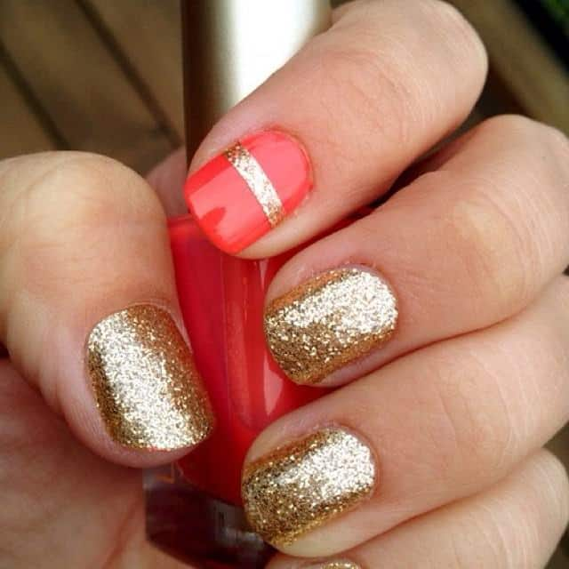 red-and-gold-rounded-nail-design-images