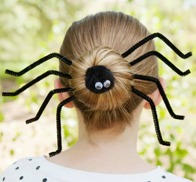 trendy-skeleton-halloween-spider-hairstyles-2016
