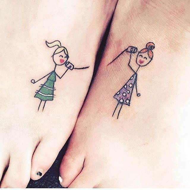 2017-small-sister-tattoo-ideas-for-foot