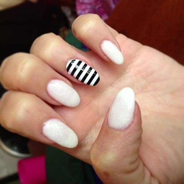 Nail Designs 2017 Black And White : Amazing black and white nail designs