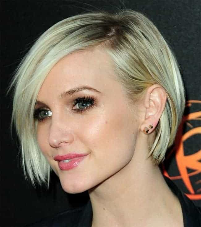 ashlee-simpson-short-edgy-bob-hairstyles-for-wedding