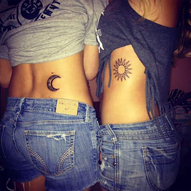creative-moon-and-sun-tattoo-designs-for-sisters-2017