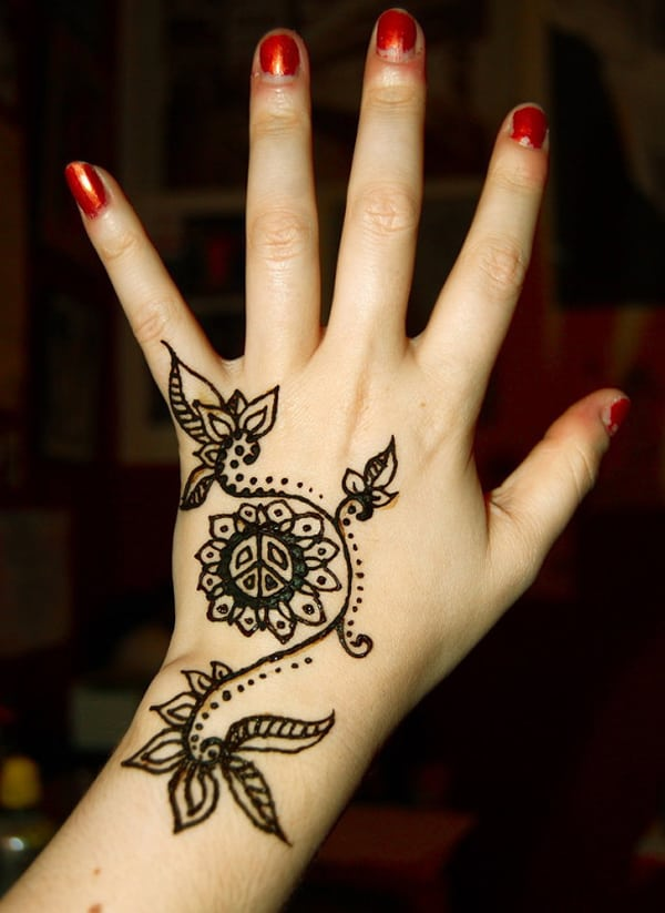 Cute Floral Mehndi Designs For Christmas Easy Simple Arabic Design