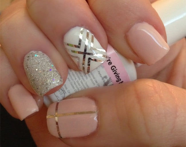 15 latest and best gelish nail designs 2017 sheideas cute gelish and gold nail designs for brides 2017 prinsesfo Choice Image