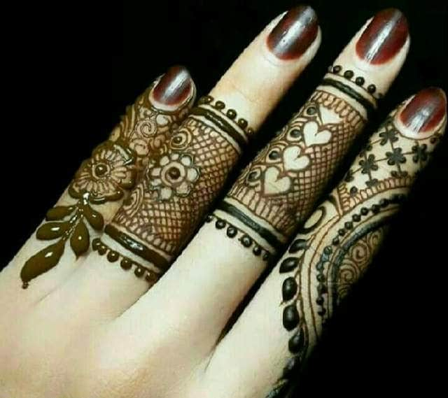 Latest Easy Mehndi Designs for Hands by Tips Clear