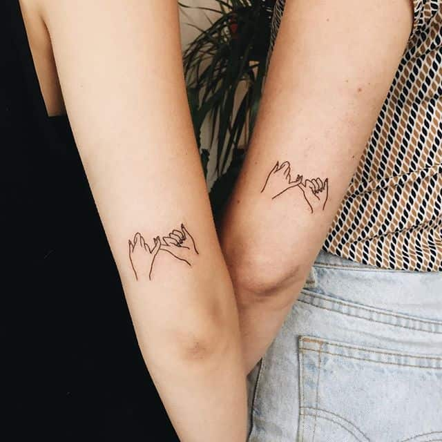 elegant-little-sister-tattoo-designs-on-elbow