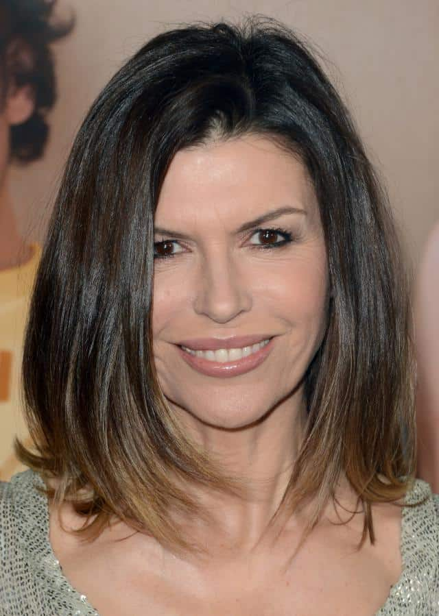 Finola Hughes Shoulder Length Bob Hairstyles for Long Hair