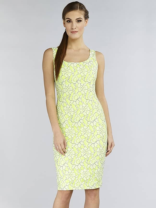 hybrid-adora-scuba-lace-neon-lime-dress