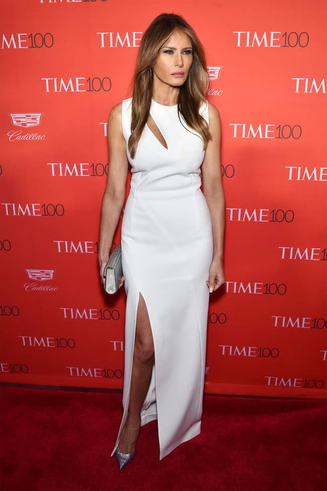 melania-trump-opted-slashed-white-gown-with-heels