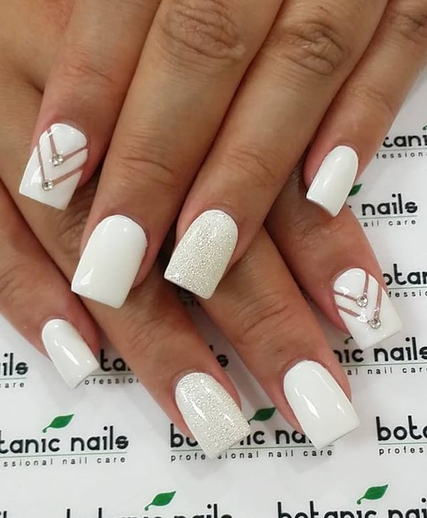 20 Best Images of White Nail Designs 2017 - SheIdeas