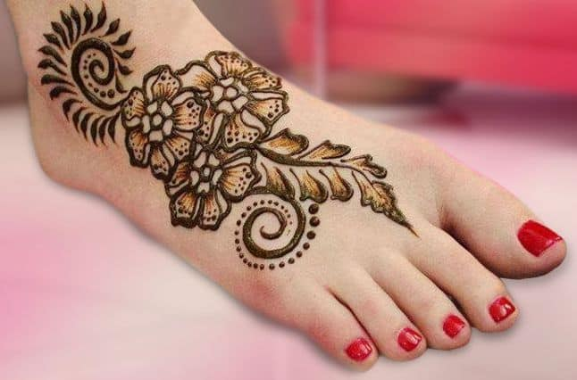Mehndi Designs For Feet Simple : Top new mehndi designs collection sheideas