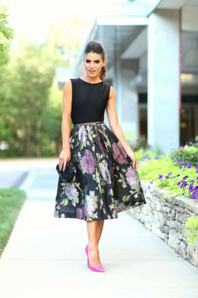 25 elegant wedding guest dresses collection sheideas for Black floral dress to a wedding