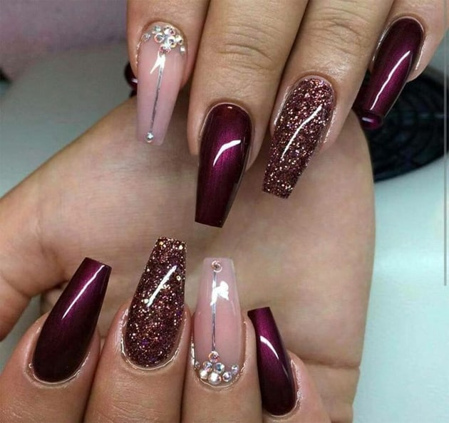 stylish-party-nail-design-ideas-for-office-girls