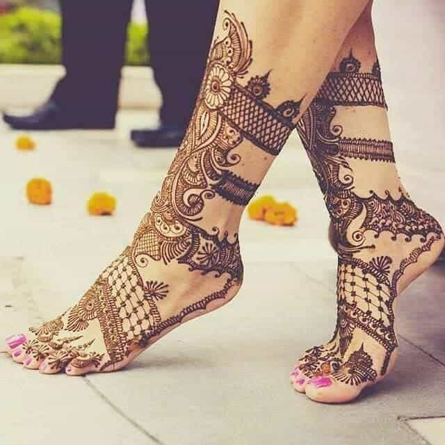 Full Leg Mehndi : Stylish karva chauth mehndi designs photos sheideas
