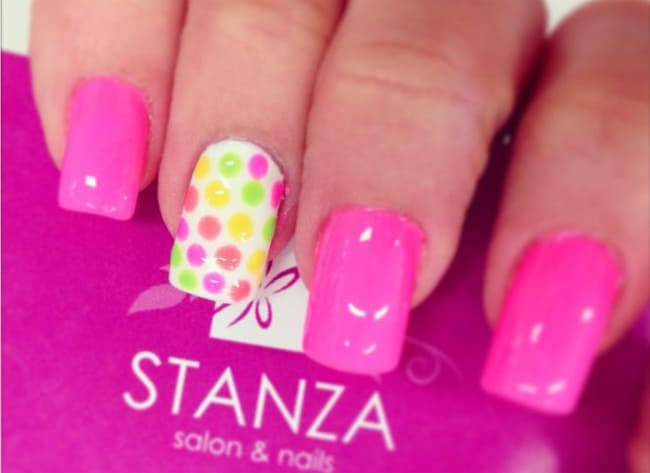 trendy-pink-color-nail-paint-ideas-for-girls