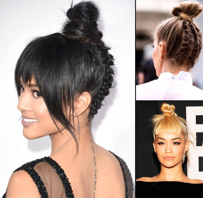 trendy-top-knots-hairstyles-for-evening-party