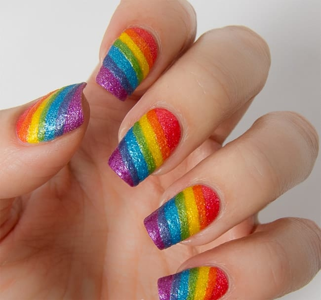 Amazing Brazil Texture Rainbow Nail Art Images - 17 Stunning Rainbow Nail Art Designs 2017 - SheIdeas