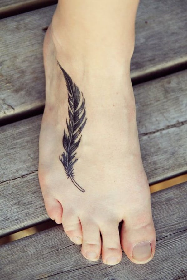 cute-feather-foot-tattoo-designs-for-women