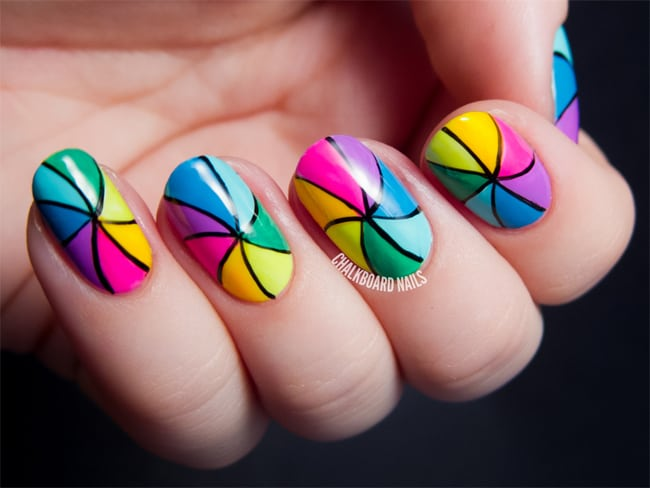 17 Stunning Rainbow Nail Art Designs 2017 - SheIdeas
