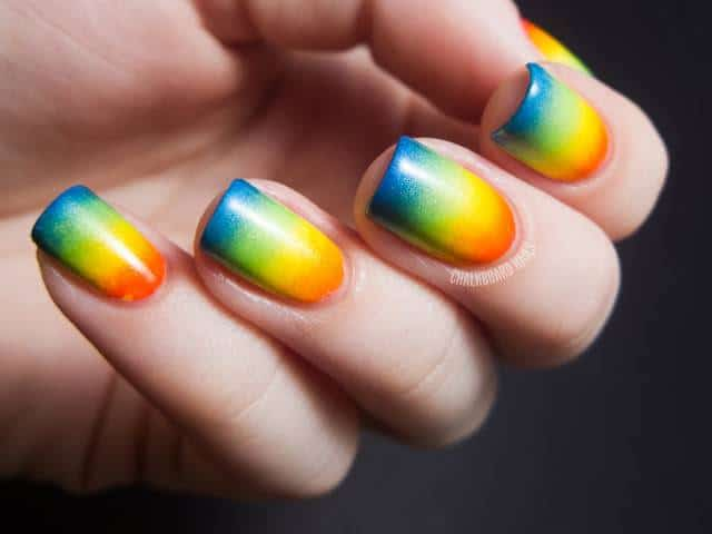 17 Stunning Rainbow Nail Art Designs 2019 Sheideas