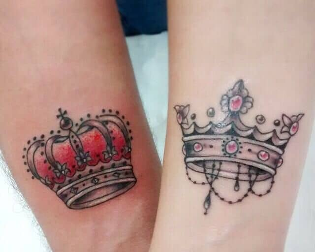 25 Amazing Images of King and Queen Tattoos