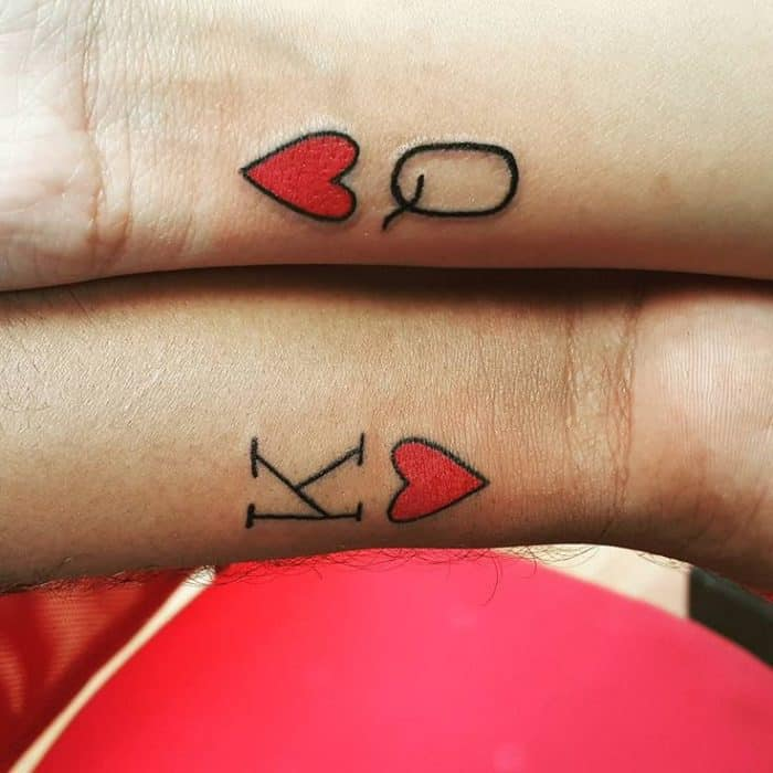 King and queen of hearts tattoo designs sheideas for Tattoo removal in queens