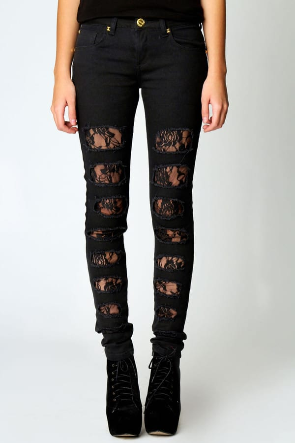 lace-insert-black-skinny-ripped-designer-jeans-for-ladies
