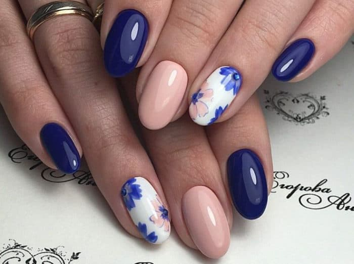 Blue And Red Nail Designs
