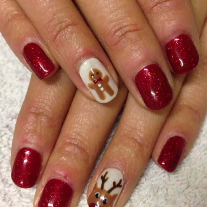Christmas Nails Shellac: 50 Latest Shellac Nail Design Ideas For 2019 [With