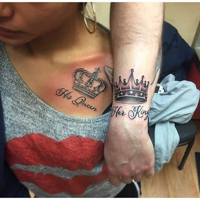 208b459fd 25 Amazing Images of King and Queen Tattoos – SheIdeas