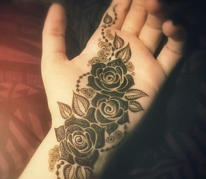Best Mehndi Flower : Glamorous rose flower mehndi designs sheideas