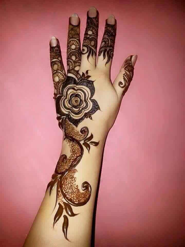 Henna Flower Designs: 40 Glamorous Rose Flower Mehndi Designs 2018