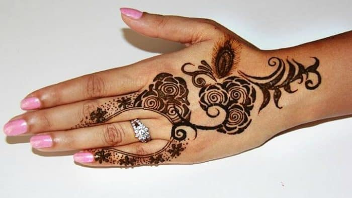 Flower Mehndi Designs For Back Hands : Rose flower mehndi designs for back hand sheideas