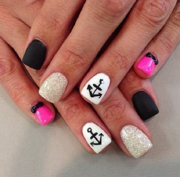 20 Cute and Best Anchor Nail Designs Images 2017