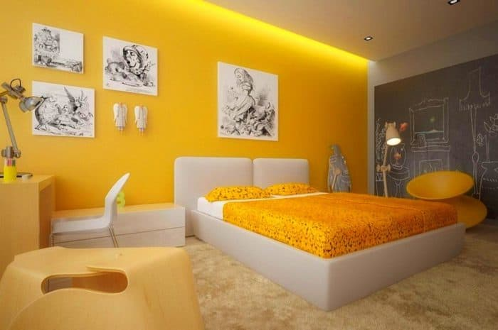 10 yellow and white bedroom paint combination