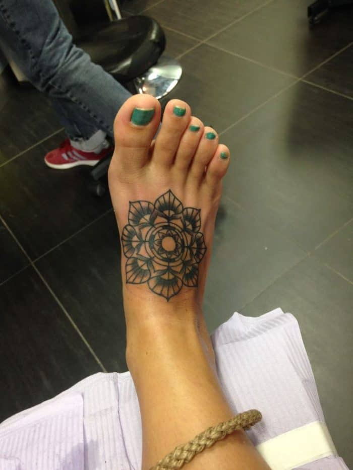 20 wonderful female foot tattoos designs 2017 sheideas for Ankle tattoos on men