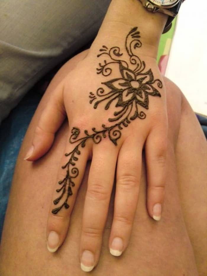 Henna Flower Tattoo Designs Wrist: 30 Latest Mehndi Designs For Beginners