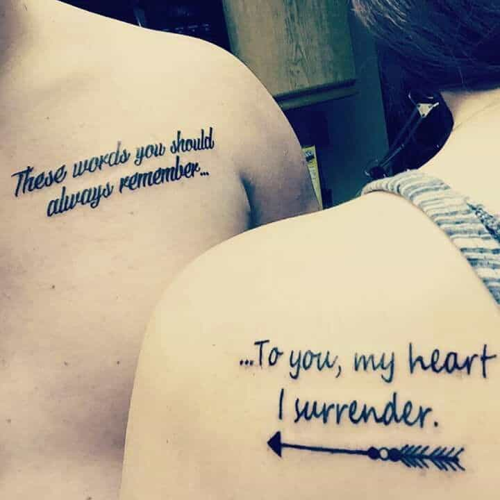 30 Cute Relationship Tattoos Designs Pictures – SheIdeas