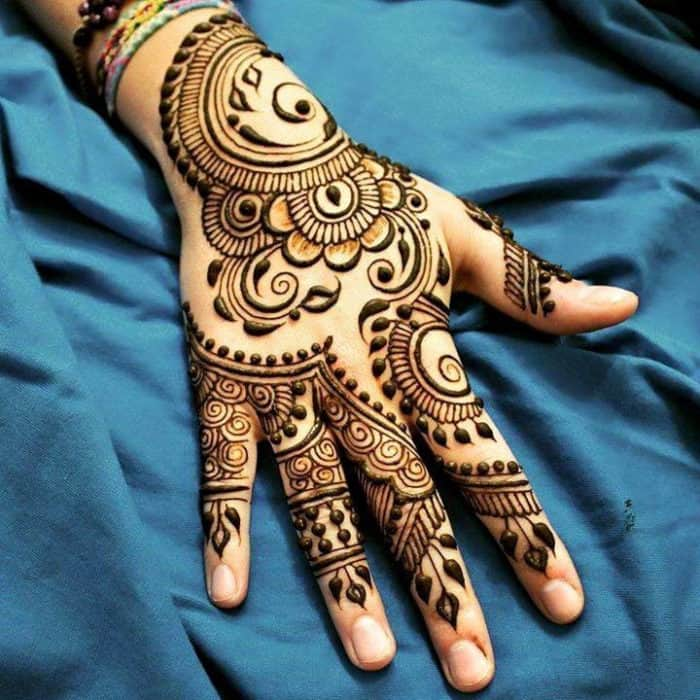 Top 15 beautiful latest mehndi designs for females sheideas for Simple arabic mehndi designs for beginners home