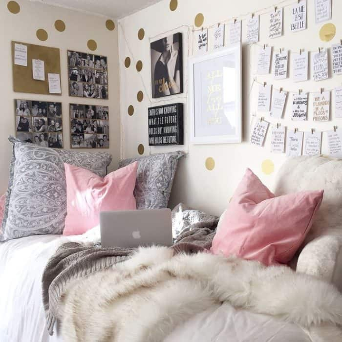 25 Really Cute Dorm Room Ideas for Inspiration  SheIdeas ~ 193634_Beautiful Dorm Room Ideas