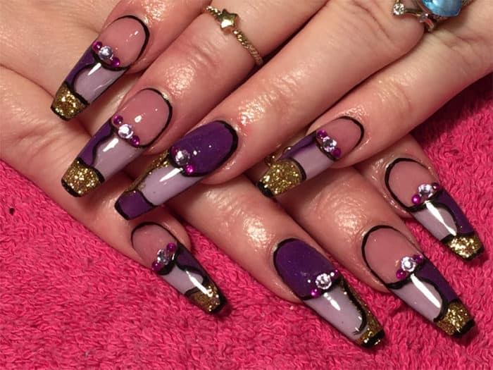 25 Top Notch Ballerina Shaped Nails Designs Sheideas