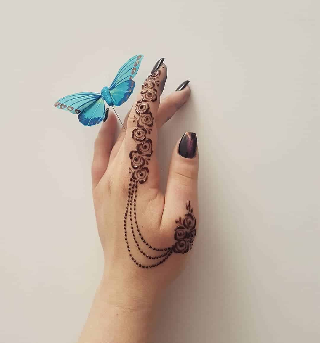 Three Dots Between Thumb And Index Finger: 30 Superb And Cute Henna Tattoos Designs