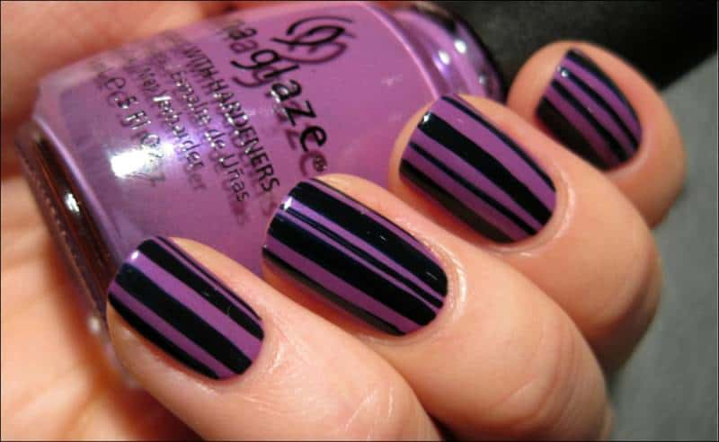Fresh Purple and Black Nail Art Designs 2017 - SheIdeas