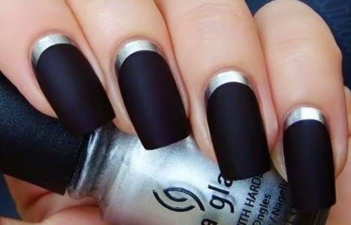 Matte Black Gel Nail Polish Ideas for Long Nails - Matte Black Gel Nail Polish Ideas For Long Nails - SheIdeas